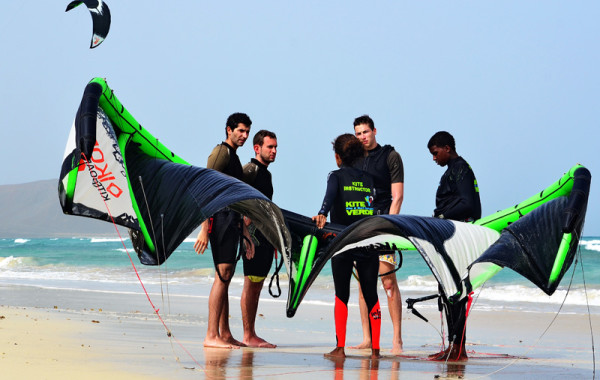 L'aile de kite surf… toujours impressionnante la première fois !