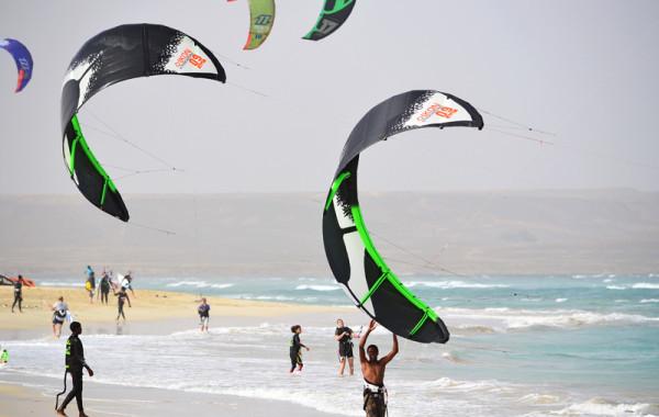 Fenêtre de vent en kite surf