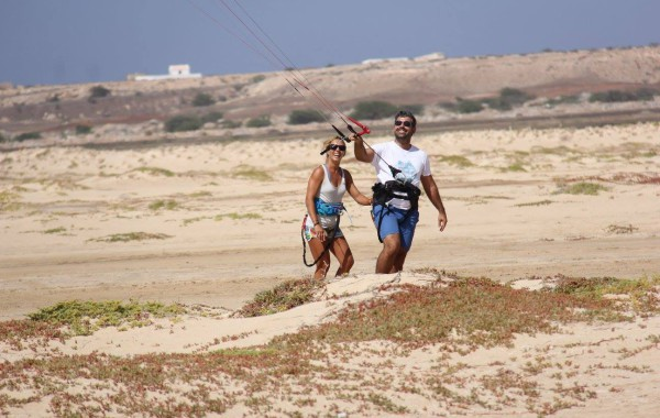 Trainer kite to learn kite surf in Cape Verde